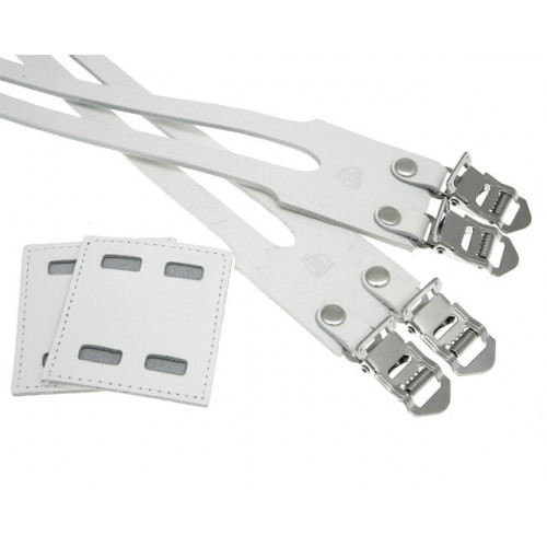 CORREAS BLB DOBLE DE CUERO BLANCO