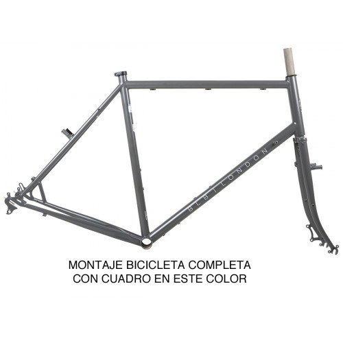 BIKE BLB HITCHHIKER ADVENTURE BIKE GRAVEL BUILD SATIN TI GREY