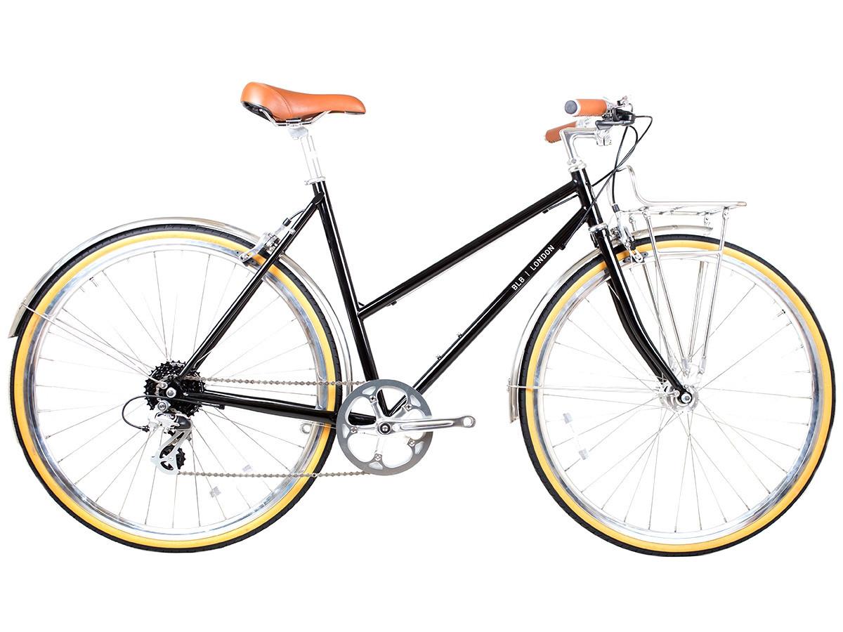 Top tube frame protector leather black BLB bike frame