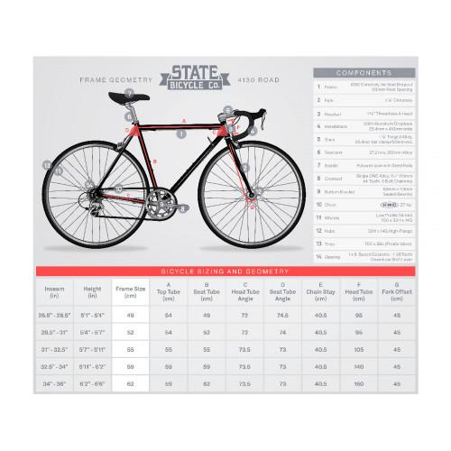 BIKE STATE BICYCLE CO 4130 ROAD AMERICANA