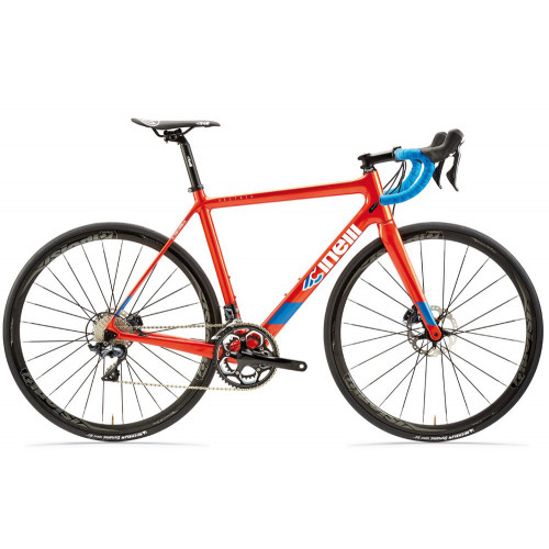 CINELLI VELTRIX DISC SHIMANO 105 R7000 BLUE BURNS ORANGE