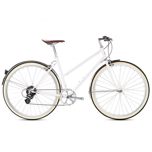 6KU ODESSA 8SPD CITY BIKE - CONNEY WHITE