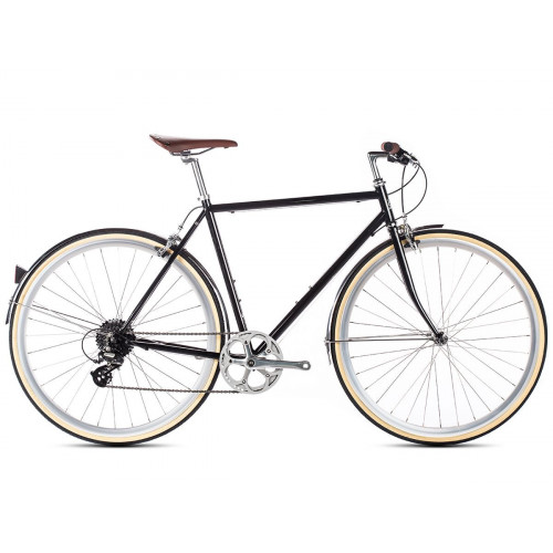 BIKE 6KU ODYSSEY 8SPD CITY DELANO BLACK