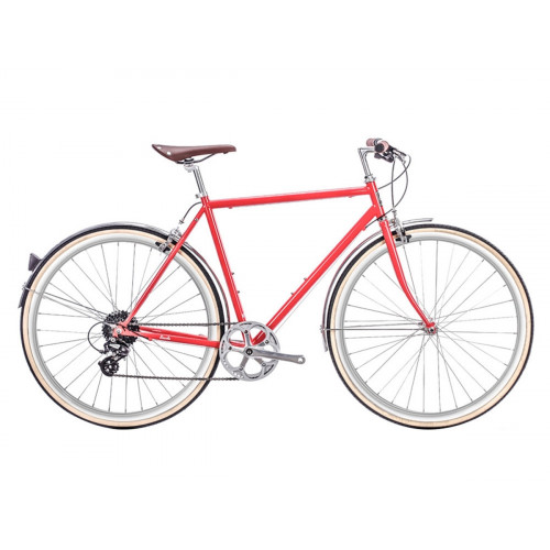 BIKE 6KU ODYSSEY 8SPD CITY LINCOLN RED