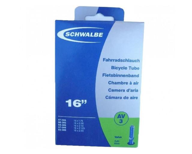 INNER TUBE SCHWALBE 16x1 1/8-1 3/8 STANDARD VALVE 40 mm.