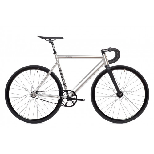 BIKE STATE BICYCLE CO 6061 BLACK LABEL V2 RAW ALUMINUM