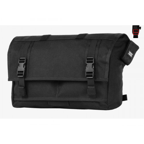 THE RUMMY MISSIONWORKSHOP MESSENGER BAG BLACK/RED BUCKLE