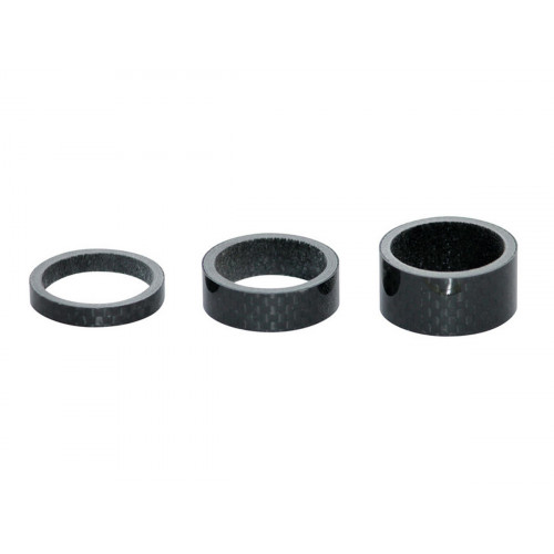 """HEADSET SPACERS 1 1/8"""" CARBON"""