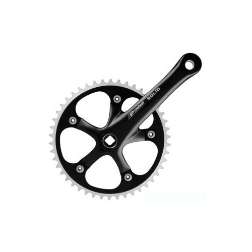 PROWHEEL 46T 165MM BLACK CRANKSET