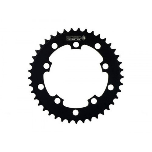 "OR8 110/130 CHAINRING 3/32"" BLACK"
