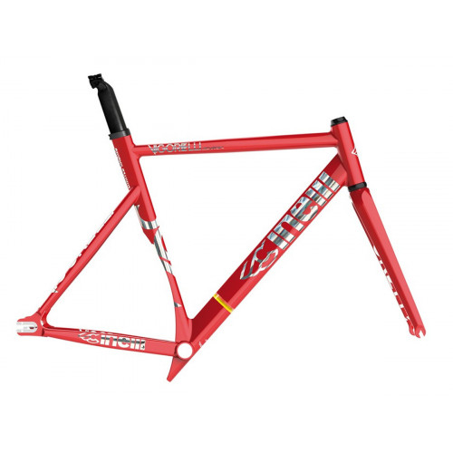 CINELLI VIGORELLI SHARK TRACK ALUMINIUM RED ALERT FRAME SET