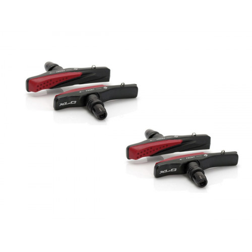 SET OF 4 BRAKE PADS XLC BS-V03 CARTRIDGE V-BRAKE 72MM BLACK/RED