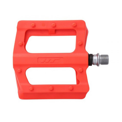 PEDALS HT PA12 PLASTIC NEON ORANGE