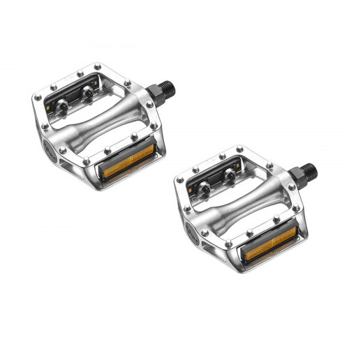 """UNION SP-102 SILVER THREADED 1/2"""" PEDALS"""
