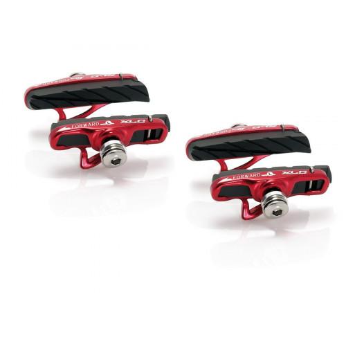 XLC BS-R06 4 SET CARTRIDGE ROAD 55MM BLACK/RED BRAKE PADS KIT