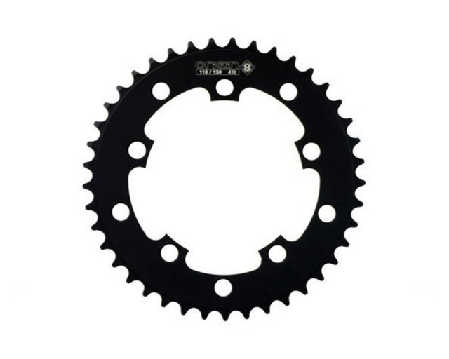 """OR8 110/130 CHAINRING 1 1/8"""" BLACK"""